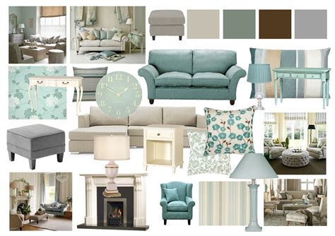 Blue Yellow And Beige Living Room by Living Room Mood Boards Done On Photoshop Paint