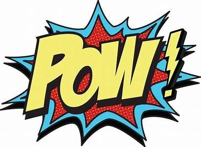 Pow Comic Clip Clipart Bang Comics Vector