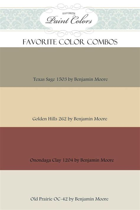 Benjamin Moore Color Combination  Favorite Paint Colors
