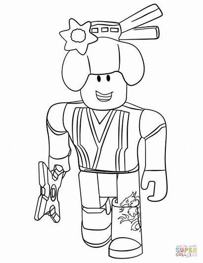 Coloring Roblox Ninja Pages Printable Coloringonly Games