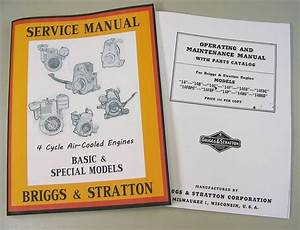 Briggs Stratton 14r6 14r6d Service Repair Owner Operator