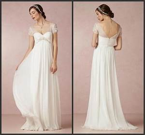 beach wedding dresses 2015 cheap bridal gowns with cap With cheap empire wedding dresses