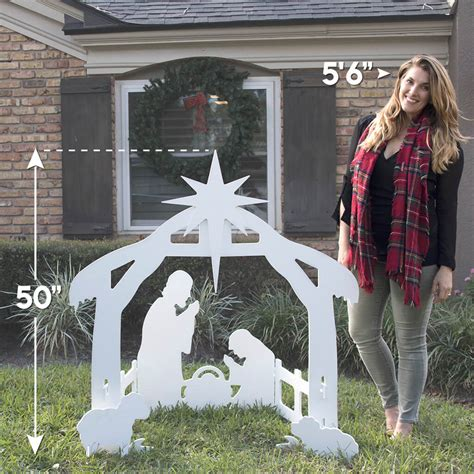 outdoor nativity set plastic outdoor nativity set