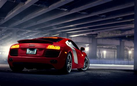 red audi r8 wallpaper audi r8 4 2 red car rear hd wallpaper best desktop