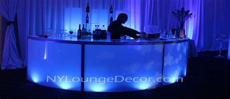 ny lounge decor led acrylic  bars