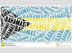 National Flag Of Bahamas Word Cloud Illustration Stock