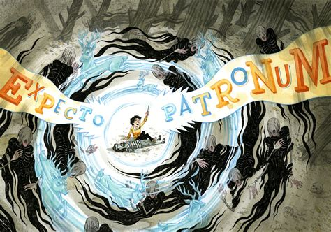 creating a beautiful harry potter drawing on deadline expecto patronum