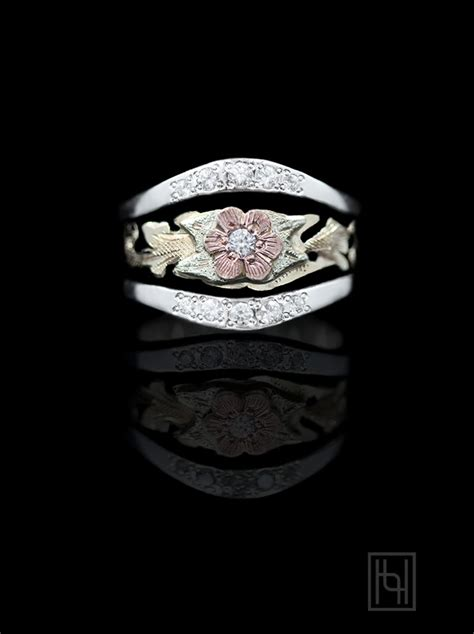 rose flower silver ring hyo silver