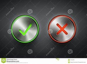 Ok And Cancel Metal Round Buttons Stock Image - Image ...