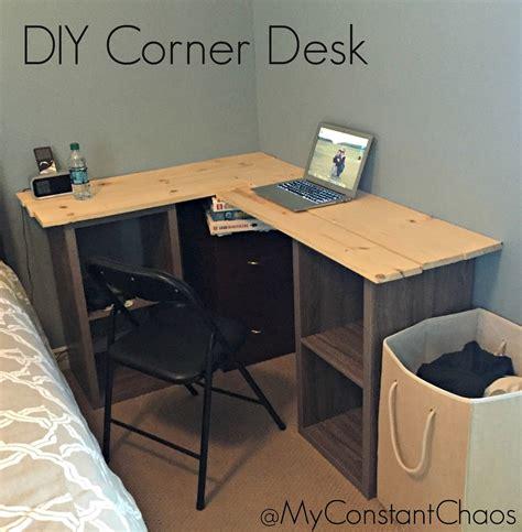 how to make a corner desk my constant chaos diy how to build a corner desk
