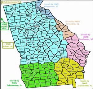 Zip Code Map Georgia Counties