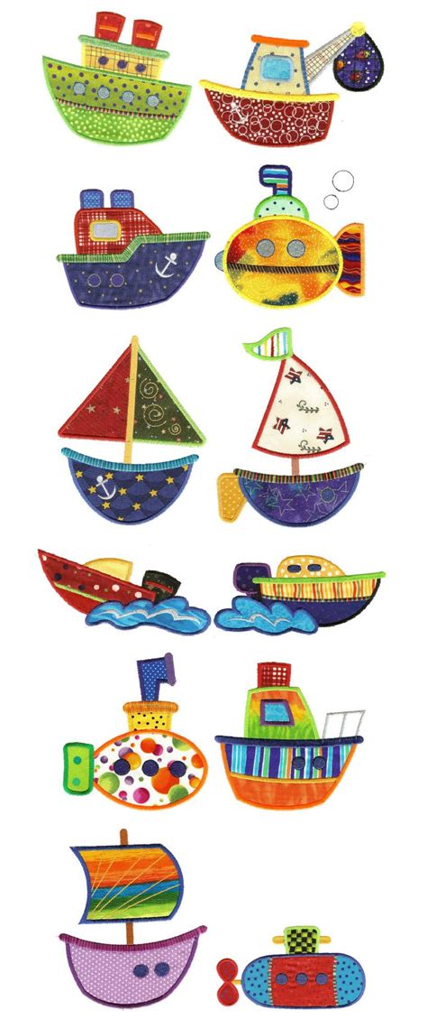 patchwork applique patterns dbjj row row your boat applique trucks trains planes