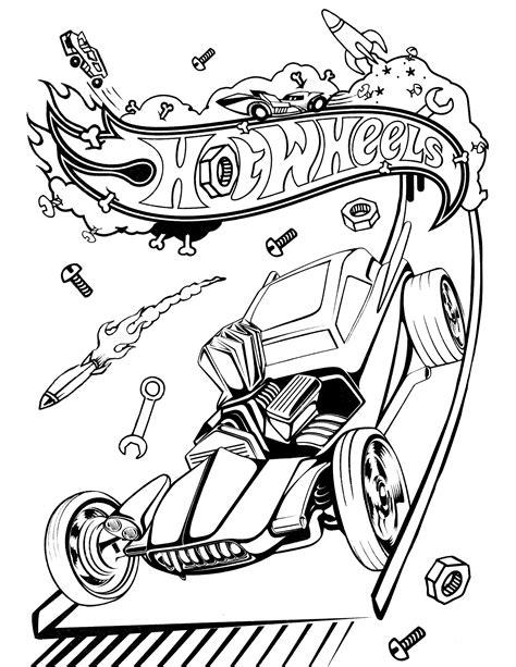 hot wheelscartoon coloring home