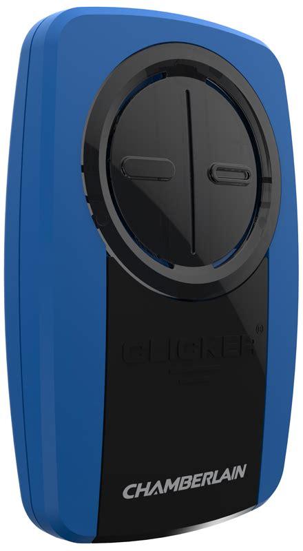 Chamberlain Klik1u Clicker Transmitter Universal Garage Door Remote by Chamberlain Blue Universal 2 Button Garage Door Remote