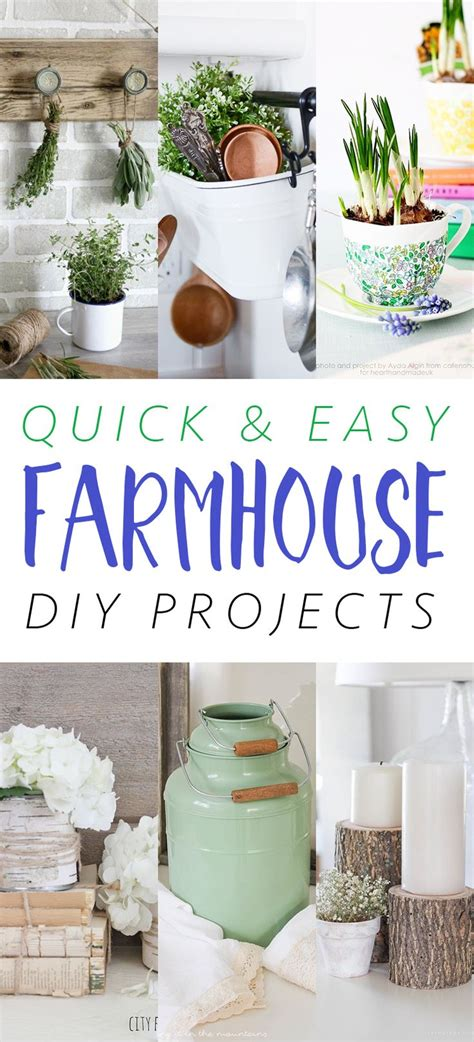 quick  easy farmhouse diy projects diy ideas home