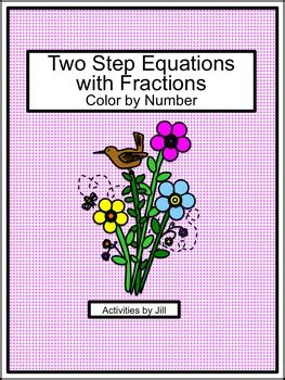 step equations  fractions color  number