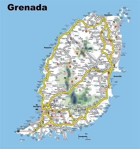 grenada tourist map