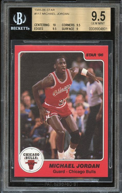 In the summer of 2018, a guy named john in new jersey saw a story on the news about a 1952 mickey mantle rookie card that was expected to fetch $3.5 million at auction. Lot Detail - 1985-86 Star #117 Michael Jordan RC Rookie Card BGS 9.5 Gem Mint