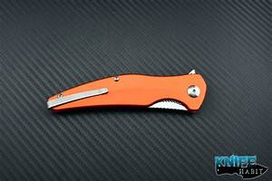 Brous Blades Orange Sniper Satin Blade - Knife Habit