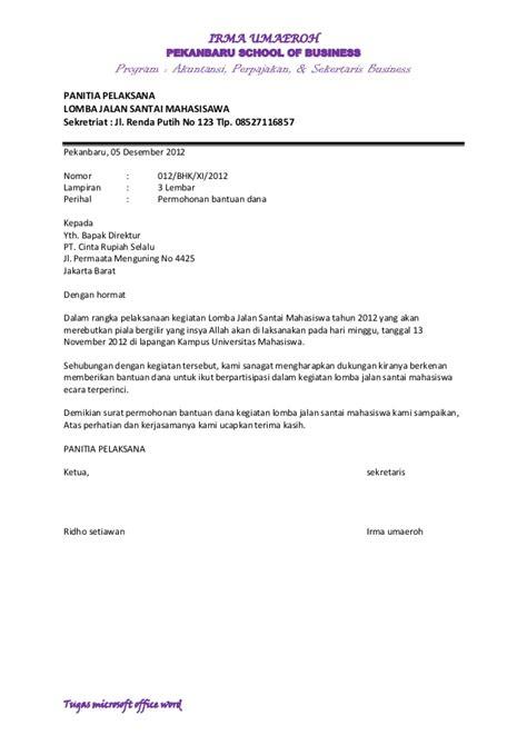 Surat Permohonan Sponsor by Surat Bantuan