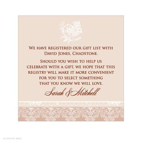 money wedding registry registry information on wedding invitations invitation