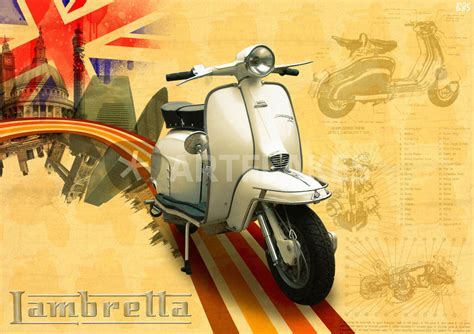 Lambretta Wallpapers by Quot Lambretta Scooter Quot Digital Prints And Posters By