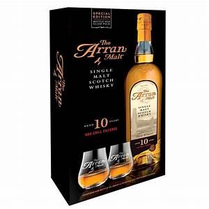 Coffret Whisky Avec Verre : coffret whisky arran 10 ans avec 2 verres 46 70cl boutique ~ Teatrodelosmanantiales.com Idées de Décoration