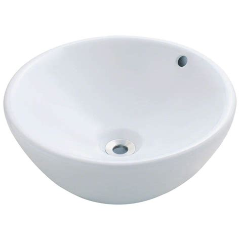 home depot white vessel sink polaris sinks porcelain vessel sink in white p0022v w
