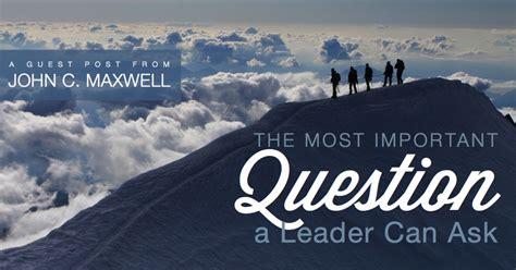 important question  leader   michael hyatt