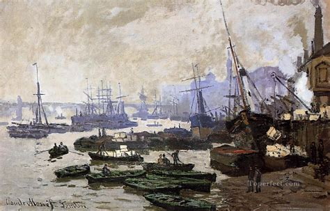 Fishing Boat For Sale London by Boats In The Port Of London Claude Monet Painting In Oil