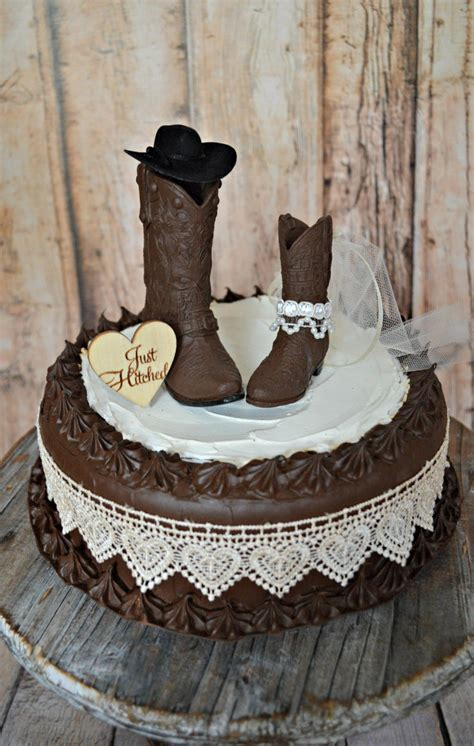 western cake toppers for wedding cakes just hitched western wedding cowboy boot cake topper 1245