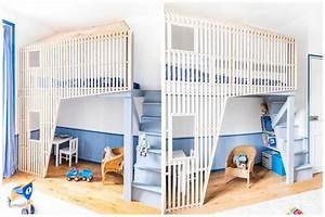 Lit Cabane Mezzanine : un lit cabane pour les enfants qui ont la chance d 39 avoir des parents cool ~ Melissatoandfro.com Idées de Décoration