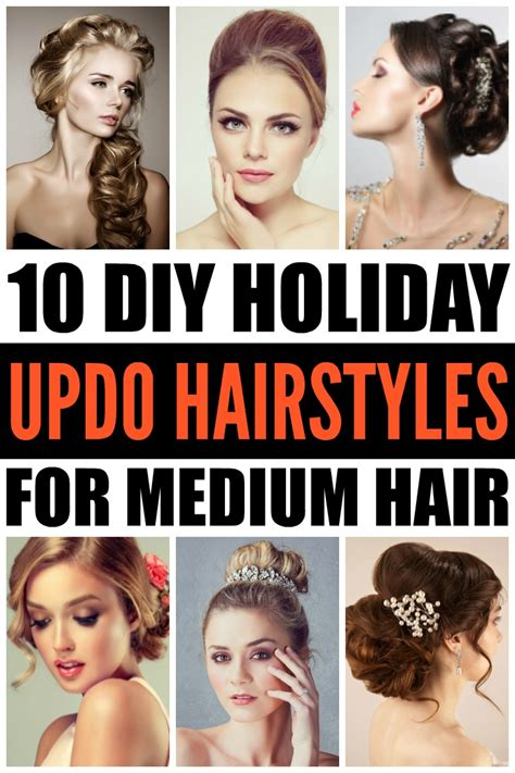 diy updo hairstyles  holiday hairstyles  medium hair
