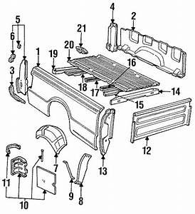 2003 Ford Ranger Wheelhouse  Rear Right  Styleside  Box
