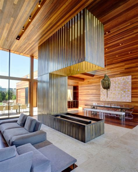 Moderne Holzdecken Wohnzimmer