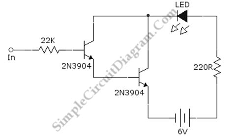 Darlington Transistor Pair Logic Probe Simple Circuit
