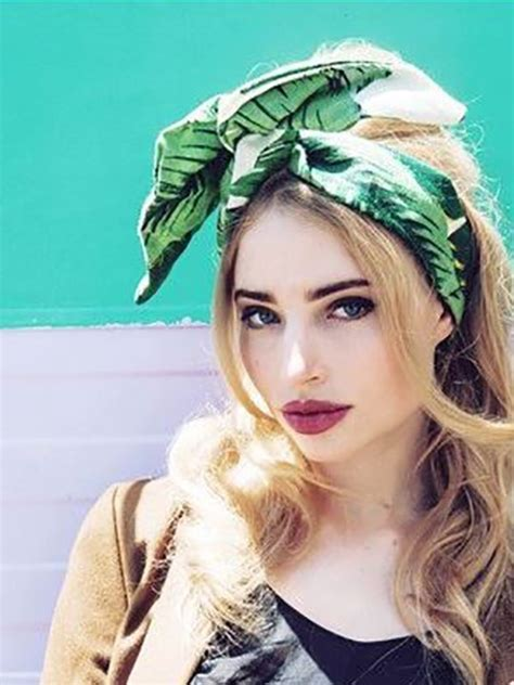 1950s Headband Hairstyle by 1950s Vintage Rockabilly Pinup Style Green Palm