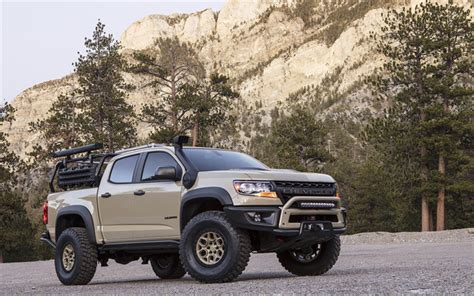 Chevrolet Colorado 4k Wallpapers by Scarica Sfondi Sema Chevrolet Colorado Zr2 Aev 007 4k