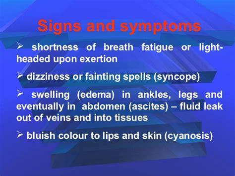 short of breath dizzy light headed pulmonary hypertension