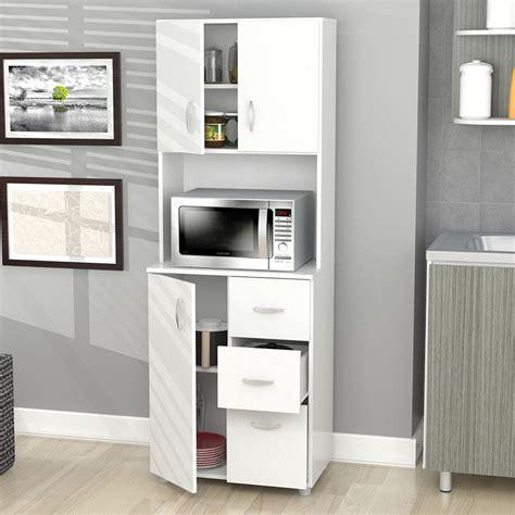kitchen storage furniture kitchen cabinet storage white microwave stand shelf 3
