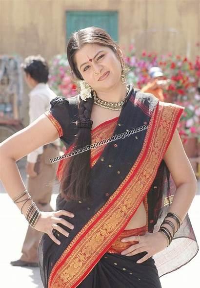 Tamil Actress Sangeetha Saree Krish Navel Dhanam