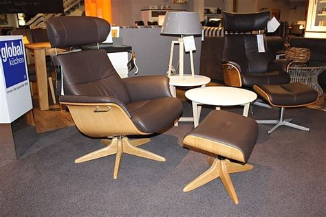 time out sessel sessel time out conform relaxsessel mit hocker leder braun sitzschale in eiche natur sonstige