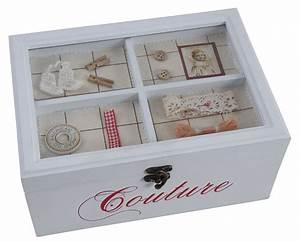 Boite à Bijoux Maison Du Monde : boite couture en bois laqu ~ Teatrodelosmanantiales.com Idées de Décoration