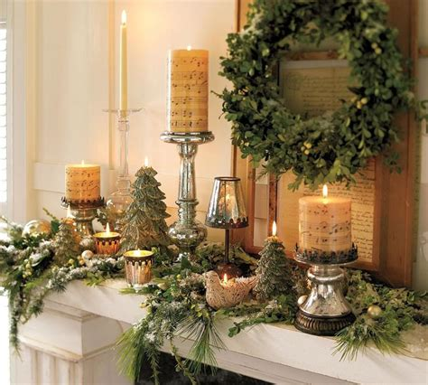 christmas decorations with candles interior minimalist decoration with green artificial