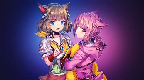 wallpaper anime girls final fantasy xiv  anime