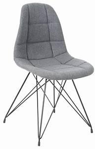 Chaise Tissu Design : chaise design m tal et tissu gris clair ~ Teatrodelosmanantiales.com Idées de Décoration