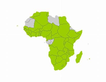 Africa Afrike Zemlje Juzne Republika Južne Map