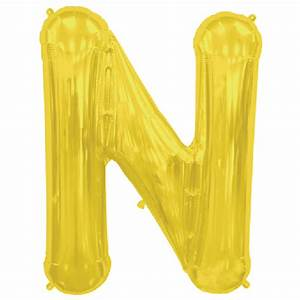gold letter n 16 inch foil balloon With 16 inch gold letter balloons