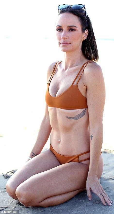Catt Sadler, 43, shows off a flawless bikini body in LA ...