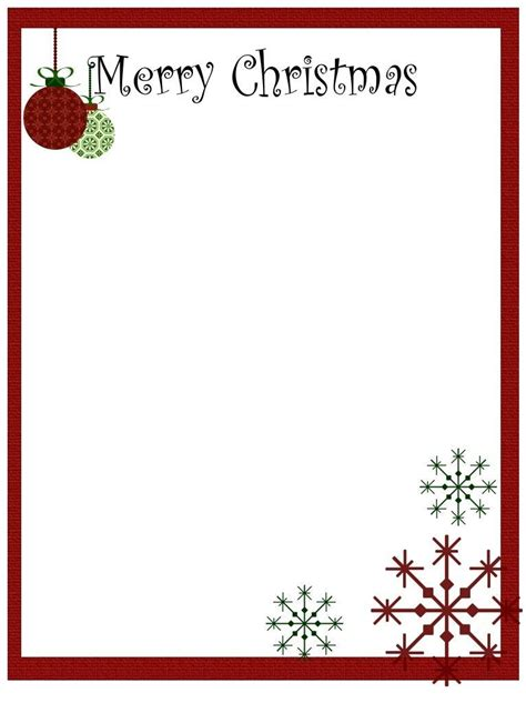 christmas head template free christmas letter head sle letter template
